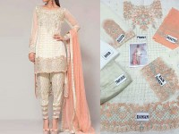 Designer Chiffon Embroidered Suit in Pakistan