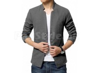 Men's Fleece Winter Coat - Charcoal in Pakistan