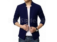 Sale: Men's Fleece Coat - Navy Blue in Pakistan