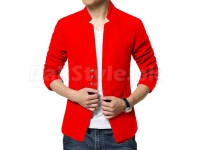 Men's Fleece Winter Coat - Red in Pakistan