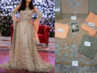 Bridal Chiffon Long Frock in Pakistan