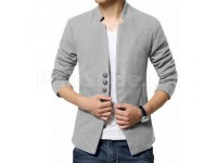 Men's Fleece Winter Coat - Grey in Pakistan