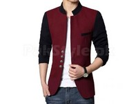 Men's Fleece Winter Coat - Contrast in Pakistan