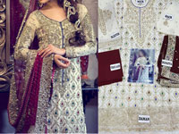 Embroidered Bridal Chiffon Suit in Pakistan