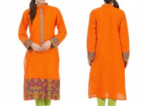 Cotton Embroidered Kurti in Pakistan