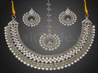 Pearl Silver Jewellery Set in Pakistan