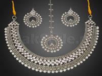 Pearl Silver Jewellery Set in Pakistan