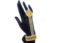 Pearl Hand Kalai Bracelet with Ring in Pakistan