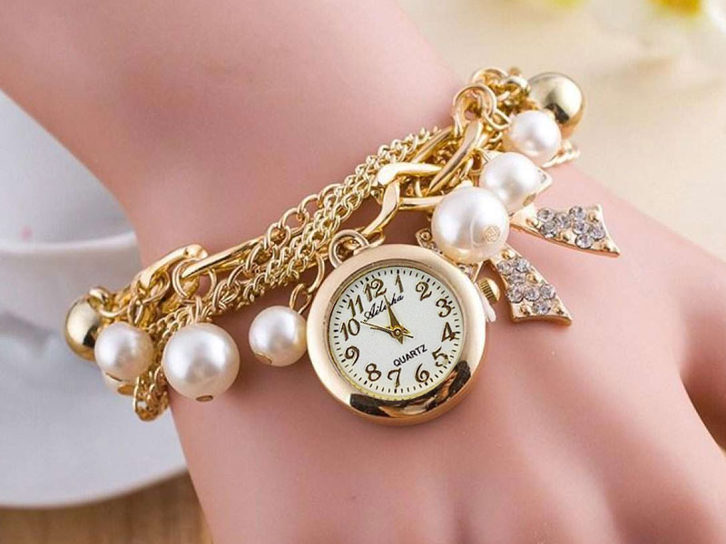 Pearl Bracelet Watch for Girls in Pakistan