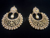 Ladies Pearl Golden Earrings in Pakistan