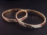 2 Stone Studded Bangles Price in Pakistan