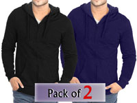 Pack of 2 Zipper Hoodies in Pakistan
