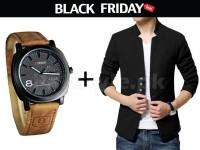 Men's Coat & Watch Black Friday Deal in Pakistan