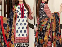 Embroidered Linen Dress with Shawl Dupatta in Pakistan