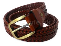 Men's Knitted Leather Belt in Pakistan