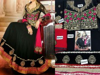 Indian Embroidered Chiffon Frock in Pakistan