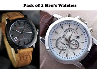 Curren & Casio Watch Combo Pack in Pakistan