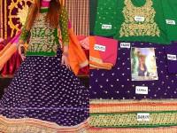 Chiffon Embroidered Bridal Lehenga in Pakistan
