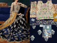 Sale: Bridal Embroidered Velvet Frock in Pakistan