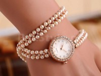 Girls Pearl Bracelet Watch in Pakistan