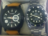 Rolex & Curren Watch Combo Pack in Pakistan