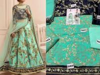 Embroidered Chiffon Bridal Lehenga in Pakistan