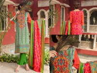 VS Classic Lawn Suit with Lawn Dupatta  C1-10B in Pakistan