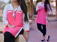 Ladies Boski Linen Top - Pink in Pakistan