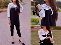 Ladies Boski Linen Top - Black in Pakistan