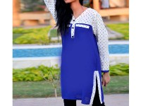 Ladies Boski Linen Top - Blue in Pakistan