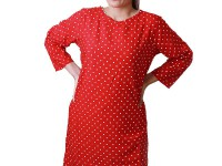 Women's Polka Dot Top - Red in Pakistan