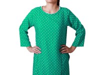 Women's Polka Dot Top - Sea Green in Pakistan