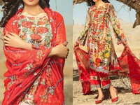 Savanah Digital Print Embroidered Lawn V1-01 in Pakistan