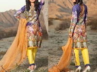 Savanah Digital Print Embroidered Lawn V1-04 in Pakistan