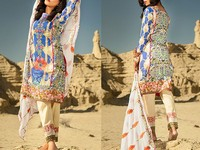Savanah Digital Print Embroidered Lawn V1-06 in Pakistan