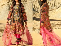 Savanah Digital Print Embroidered Lawn V1-08 in Pakistan