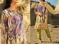 Savanah Digital Print Embroidered Lawn V1-09 in Pakistan