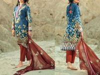 Savanah Digital Print Embroidered Lawn V1-11 in Pakistan