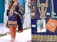 Embroidered Chiffon Bridal Dress in Pakistan