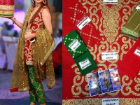 Embroidered Chiffon Bridal Dholki Dress in Pakistan