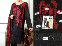 Embroidered Chiffon Dress in Pakistan