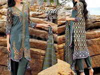 MTF Embroidered Lawn Dress D01-A in Pakistan