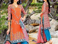 MTF Embroidered Lawn Dress D01-B in Pakistan