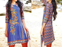 MTF Embroidered Lawn Dress D02-B in Pakistan