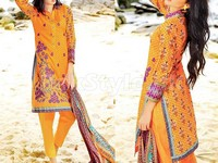 MTF Embroidered Lawn Dress D03-B in Pakistan