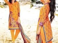 MTF Embroidered Lawn Dress D03-B in Pakistan