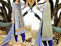MTF Embroidered Lawn Dress D04-A in Pakistan