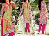 MTF Embroidered Lawn Dress D05-A in Pakistan