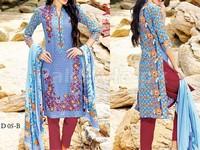 MTF Embroidered Lawn Dress D05-B in Pakistan