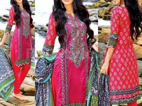MTF Embroidered Lawn Dress D06-A in Pakistan